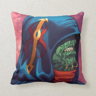 Evil Alien Diplomat Art by Al Rio Pillow