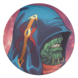 Evil Alien Diplomat Art by Al Rio Dinner Plates