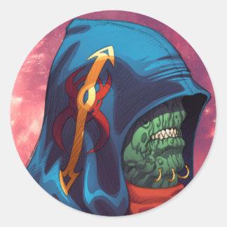 Evil Alien Diplomat Art by Al Rio Sticker