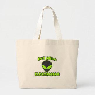 Evil Alien Electrician Canvas Bags