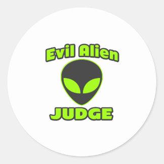 Evil Alien Judge Stickers