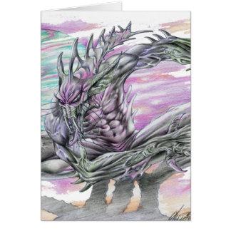 Evil Alien Monster Futuristic Sci-Fi by Al Rio Cards
