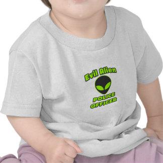 Evil Alien Police Officer T-shirts