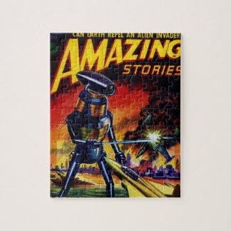 Evil Alien Robot Jigsaw Puzzle