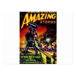 Evil Alien Robot Postcard