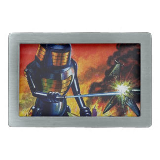 Evil Alien Robot Rectangular Belt Buckles
