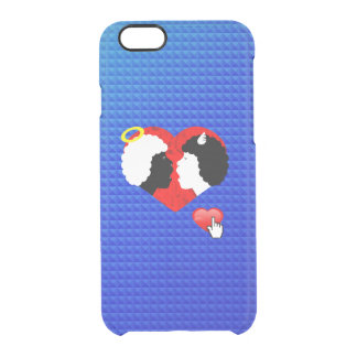 Evil and angel clear iPhone 6/6S case