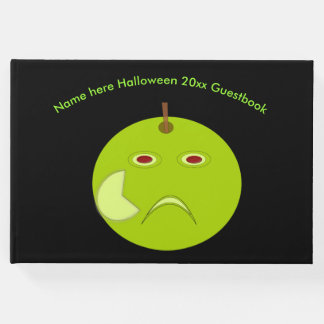 Evil Apple with Scar Halloween Guestbook