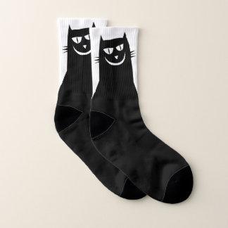 Evil Black Cat Socks 1