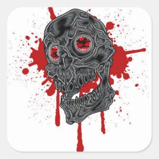 Evil Blood Drip Skull Sticker