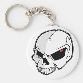 Evil Blood Red Eyeballs Skull Basic Round Button Keychain