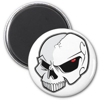Evil Blood Red Eyeballs Skull 2 Inch Round Magnet