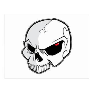 Evil Blood Red Eyeballs Skull Postcard