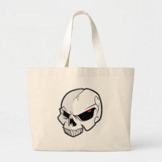 Evil Blood Red Eyeballs Skull Jumbo Tote Bag