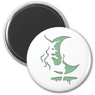 Evil Brewing Witch - Green Spot Invert Design Fridge Magnets