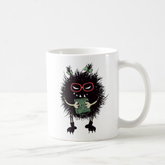 Evil Bug Student Loves Reading Coffee Mug