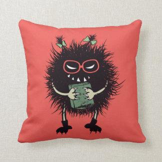 Evil Bug Student Loves Reading Cushion