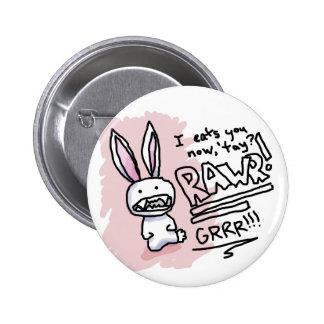 Evil Bunny Chomp 6 Cm Round Badge