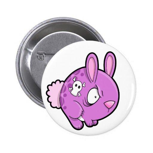 Evil Bunny Rabbit Button
