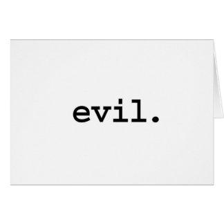 evil. card