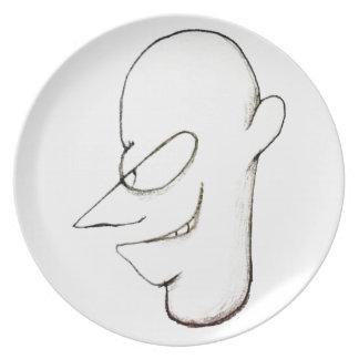 Evil Character Portrait Dinner Plates