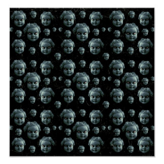 Evil Child Expression Pattern Poster