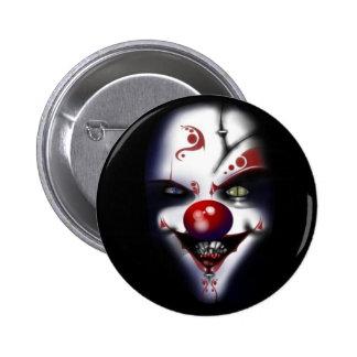 Evil Clown 6 Cm Round Badge