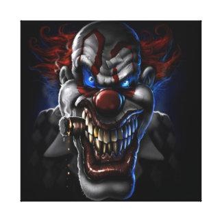 Evil Clown and Cigar Canvas Print