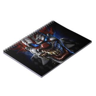 Evil Clown And Cigar Spiral Note Book