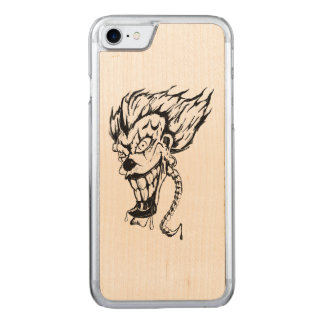 Evil clown Apple iPhone Slim Maple Wood Case