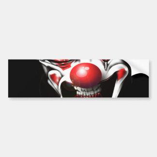 Evil Clown Bumper Sticker