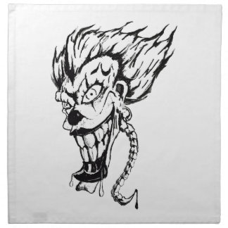 Evil clown Cloth Dinner Napkins (set of 4)