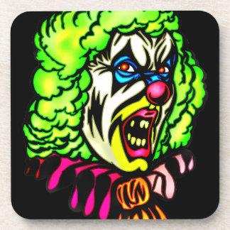 Evil Clown Cork Coaster