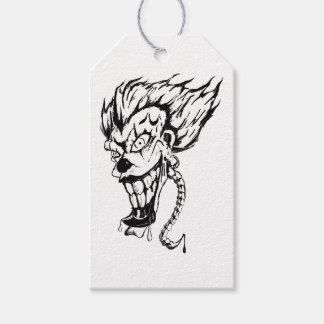 Evil clown Custom Gift Tags