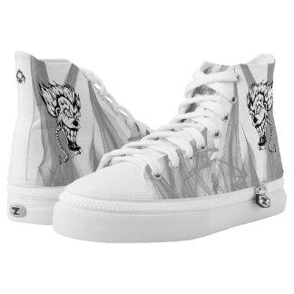 Evil clown Custom Zipz High Top Shoes