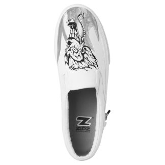 Evil clown Custom Zipz Slip On Shoes