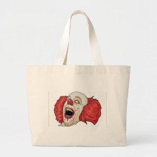 Evil clown design canvas bags