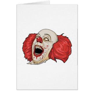 Evil clown design card