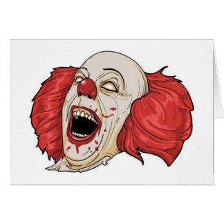 Evil clown design cards
