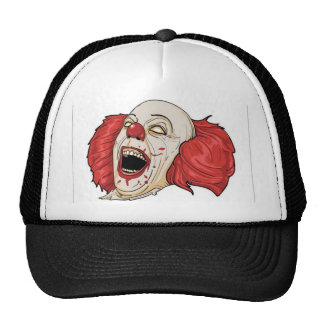 Evil clown design mesh hats