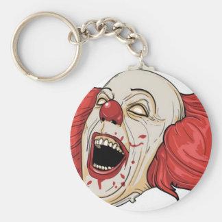 Evil clown design keychain