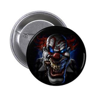 Evil Clown Face Pinback Buttons