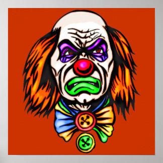 Evil Clown Face Posters