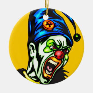 Evil Clown From Hell Round Ceramic Decoration