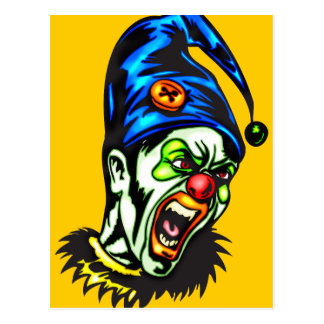 Evil Clown From Hell Postcard