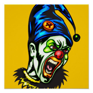 Evil Clown From Hell Poster