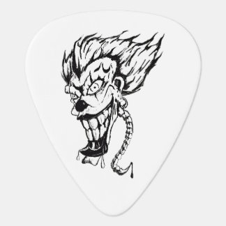 Evil clown guitar pic plectrum