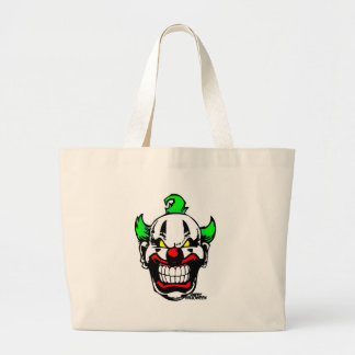 EVIL CLOWN ( Happy Halloween ) Jumbo Tote Bag