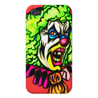 Evil Clown In Curled Wig iPhone 4 Case
