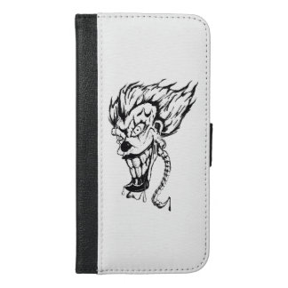 Evil clown iPhone Plus Wallet Case